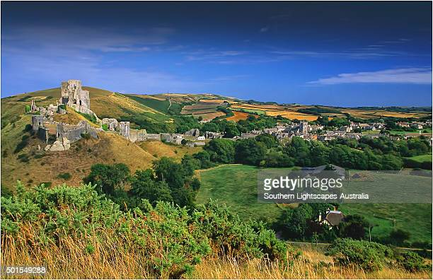 a countryside view near corfe castle, isle of purbeck, dorset, england. - 英国 ドーセット ストックフォトと画像