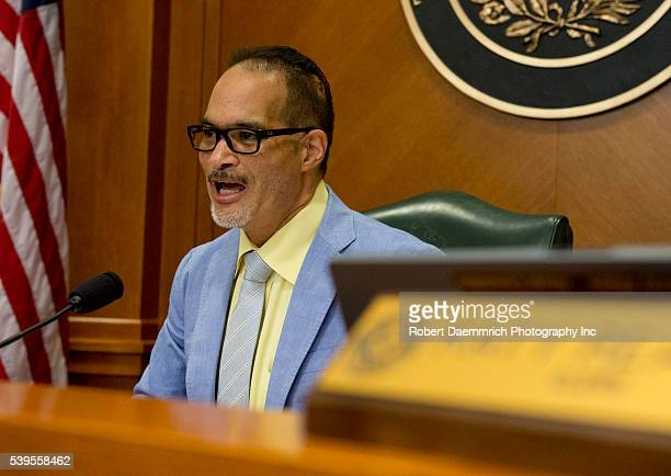 County Affairs Committee chair Garnet Coleman of Houston speaks as Texas officials continue to investigate the death of Sandra Bland who died July...