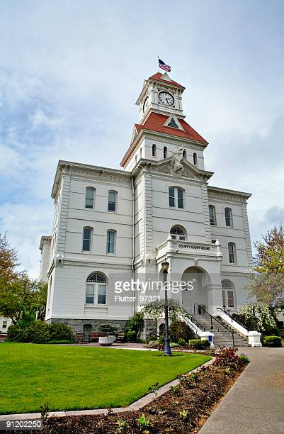 county courthouse - corvallis stock pictures, royalty-free photos & images