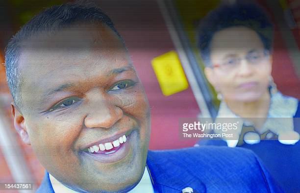 County Executive candidate Rushern L Baker and his wife Christa after voting at Gladys Noon Spellman Elementary school September 14 2010 in Cheverly...