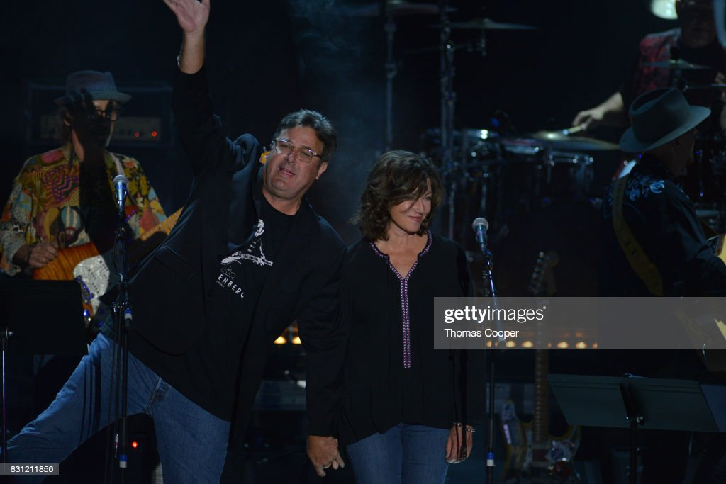 County music artist Vince Gill and american singer songwriter Amy Grant perform as part of the Rocky Mountain Way, Colorado Music Hall of Fame event at Fiddler's Green Amphitheatre on August 13, 2017 in Englewood, Colorado.