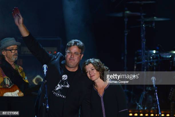 County music artist Vince Gill and american singer songwriter Amy Grant perform as part of the Rocky Mountain Way Colorado Music Hall of Fame event...