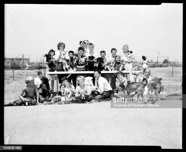 County sponsored pet show 25 July 1952 Barbara Lynn GoldJudy SchindewolfGary PriebeGloria MaeseRosemary DejuilioAnn Marie KantzDianne...