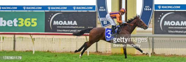 Coup De Tonnerre ridden by Daniel Moor wins the Echuca Newsagency BM58 Handicap at Echuca Racecourse on May 10, 2021 in Echuca, Australia.