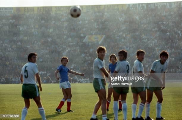 Coup Franc de Michel PLATINI Bulgarie / France Qualification pour la Coupe du Monde 1978 Sofia Bulgarie