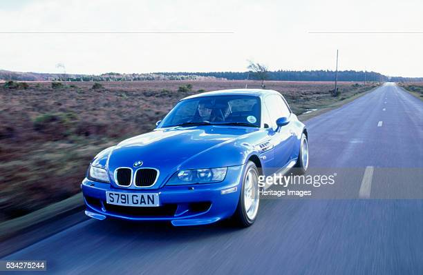 Z3M coupe driving on country road 2000