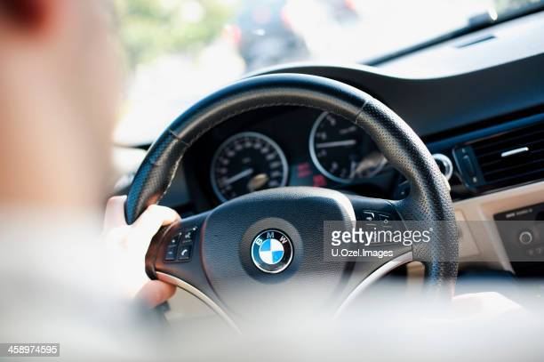 bmw coupe indoors - bmw stock pictures, royalty-free photos & images
