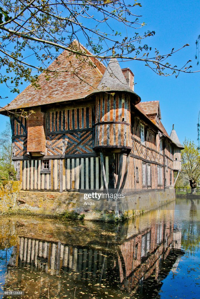 Pays d'Auge area: the Manor. : News Photo