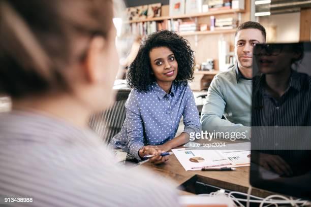 Couple and advisor