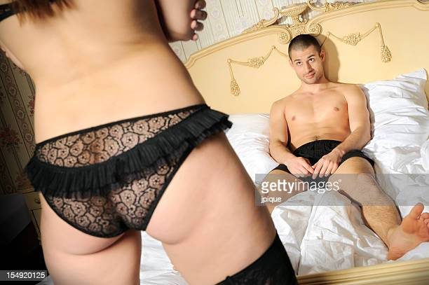 couple and sexual issues - woman bum stock photos and pictures