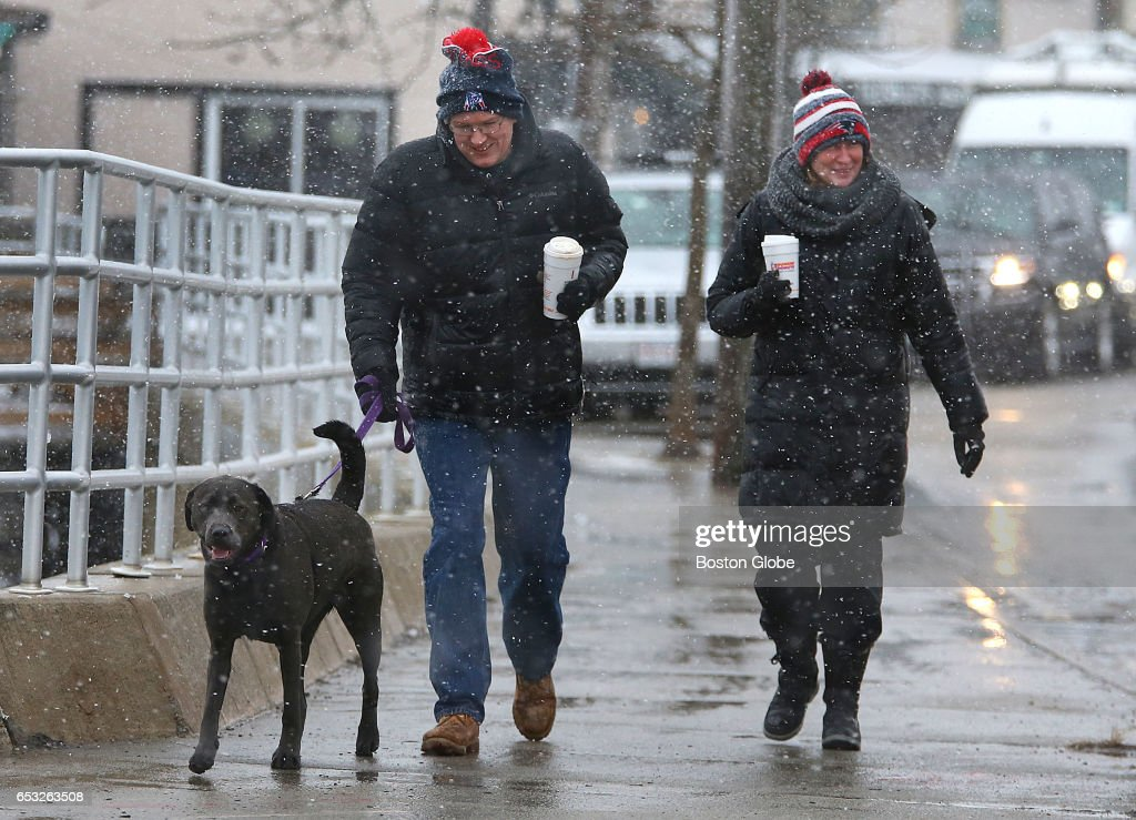 Winter Storm Arrives In Scituate, MA : News Photo