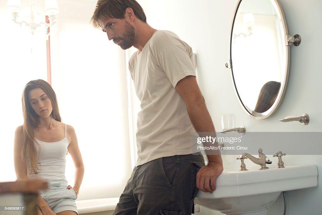 Couple angry with one another : Stock Photo