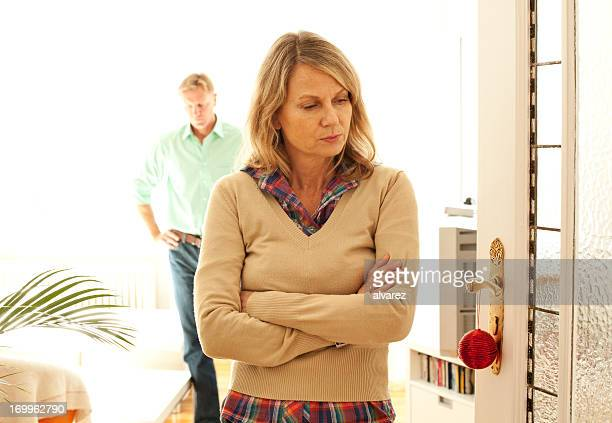 couple arguing and being upset - cheating wives photos stock photos and pictures
