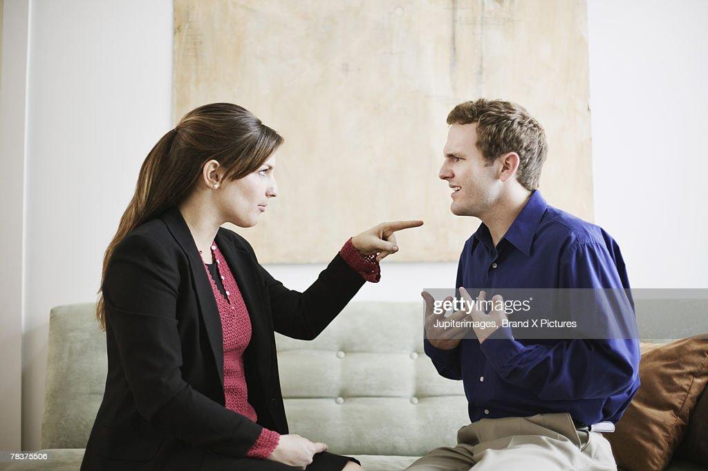 Couple arguing : Stock Photo