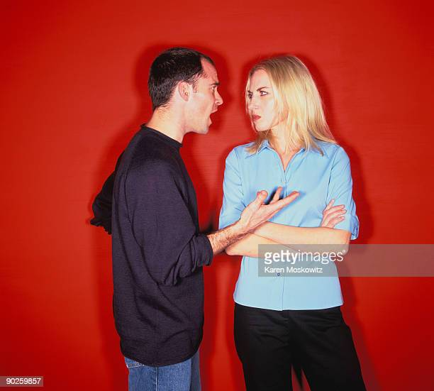 a couple arguing. - arguing stock pictures, royalty-free photos & images