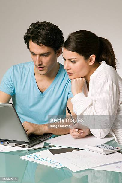 Couple arranging finances