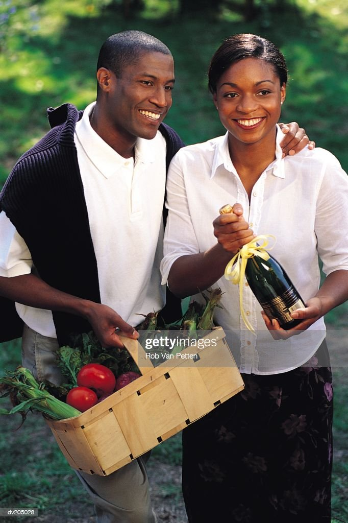 Couple at a picnic : Stock Photo