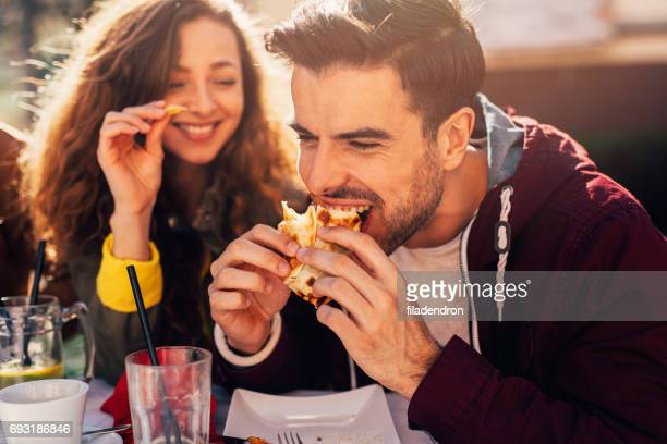 couple at a restaurant - eating stock photos and pictures
