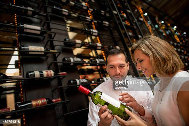 Couple at a wine taste