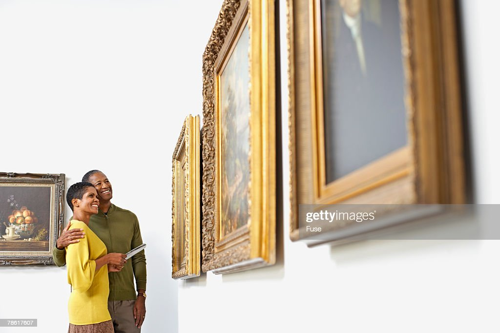 Couple at Art Gallery : Stock Photo