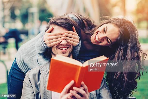 Couple at autumn