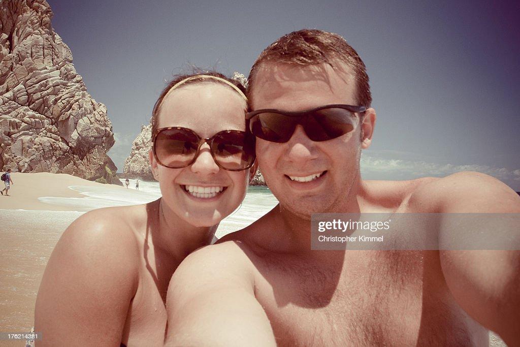 Couple at Beach : Foto de stock