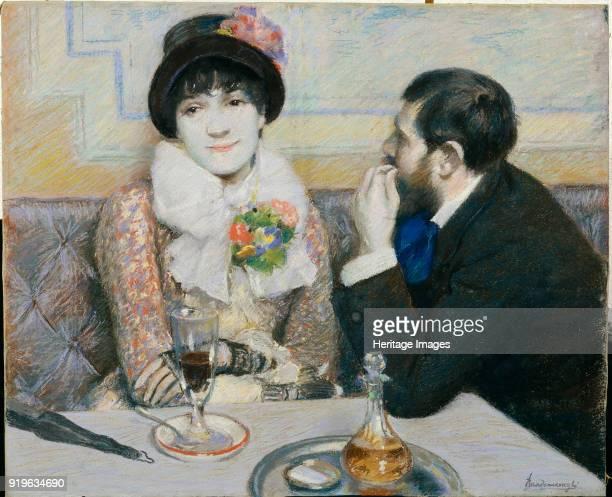 Couple At Cafe ca 1885 Found in the Collection of Fondazione FC per l'Arte Torino