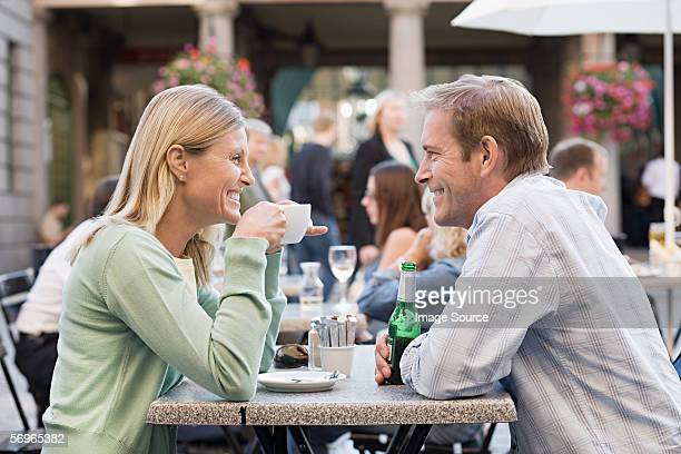 Couple at cafe table