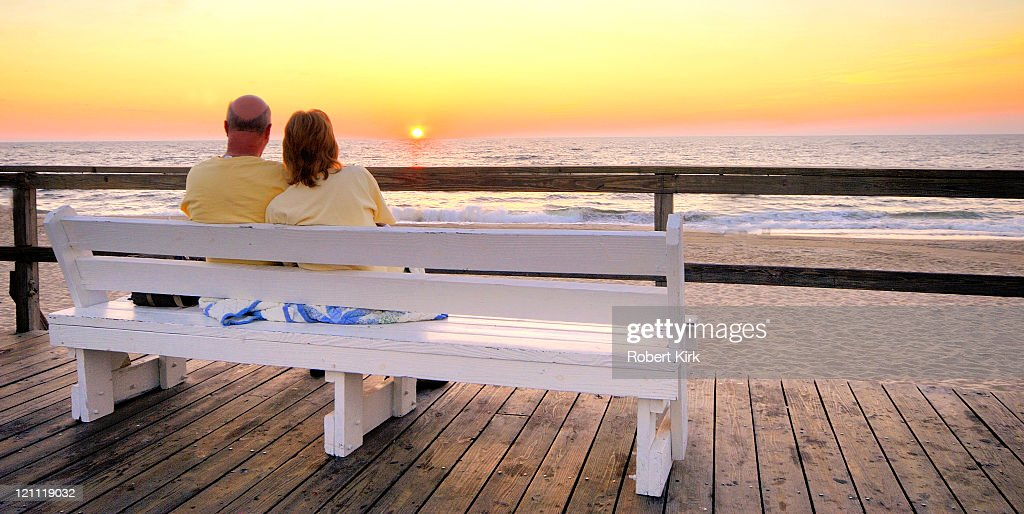 Couple at Dawn - Bethany Beach, Delaware : Stock Photo