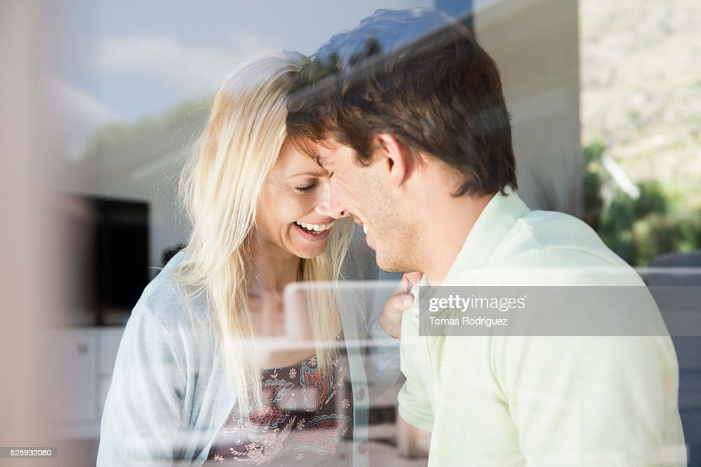 Couple at home : Stock-Foto