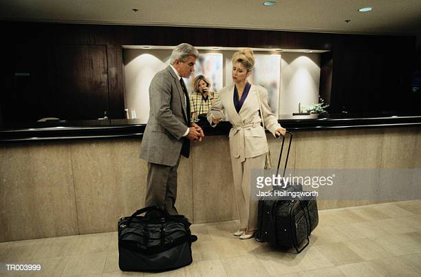Couple at Hotel Check In