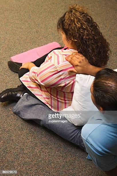 Couple at lamaze class