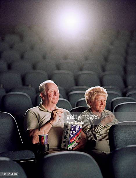 Couple at movie theater