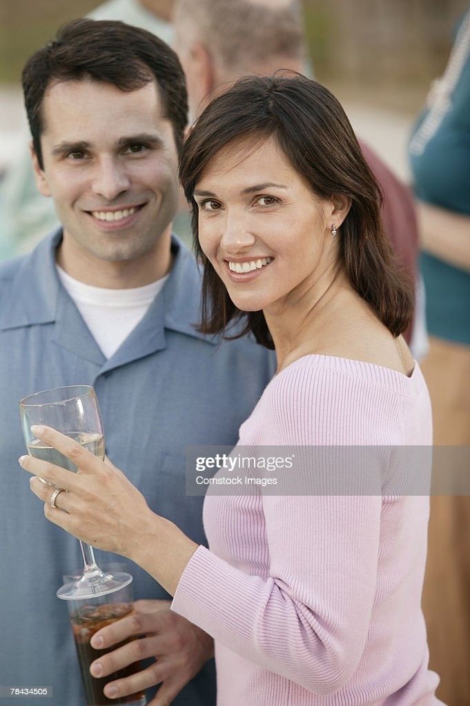 Couple at party : Stockfoto