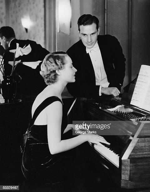 Couple at piano