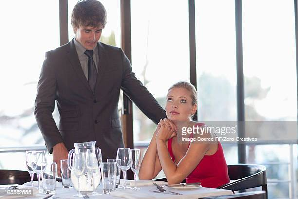 Couple at restaurant together