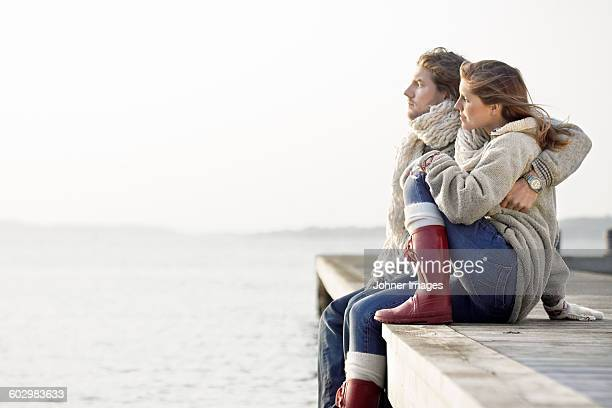 Couple at sea