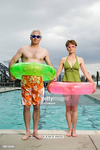 Couple at Swimming Pool