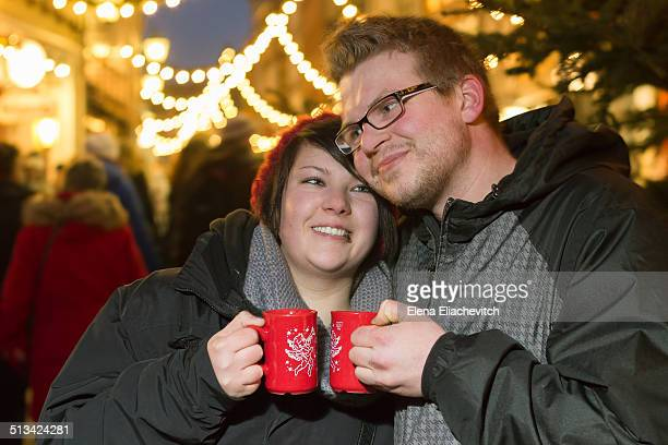Couple at the Christmas market