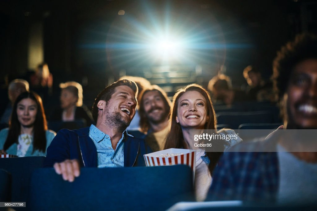 Couple at the movies : Stock Photo