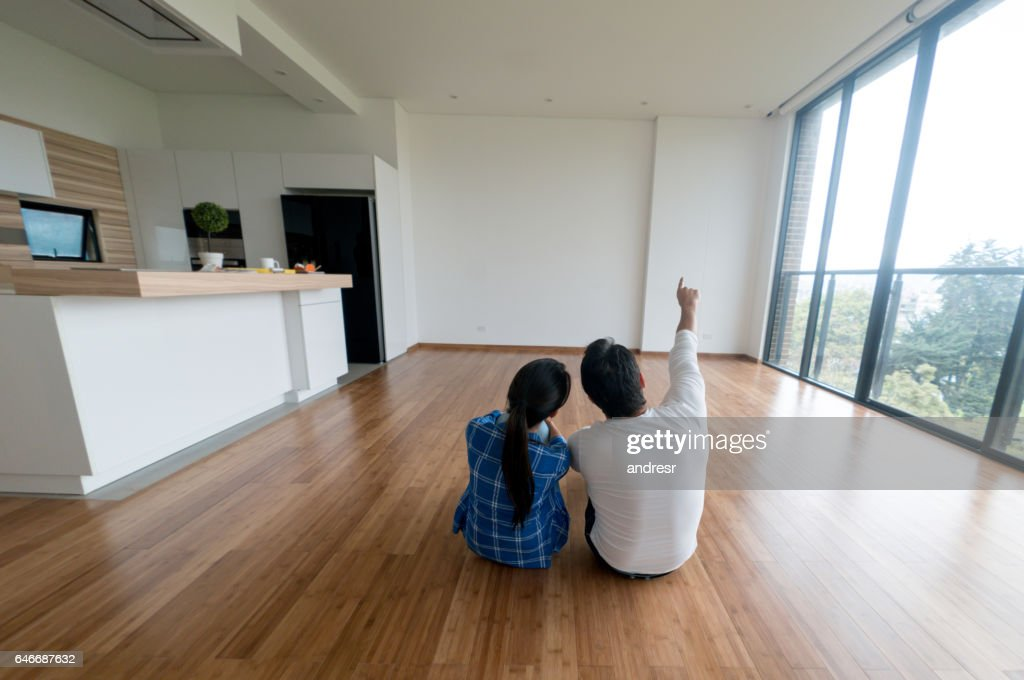 Couple at their new home : Stock Photo