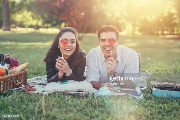 バレンタインの日のカップル