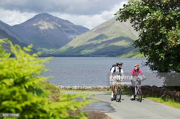 Couple Biking by Wastwater