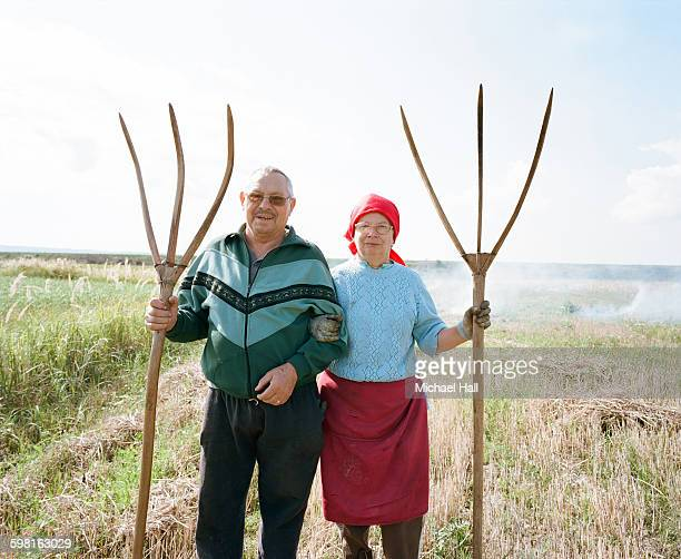 Couple burning fields