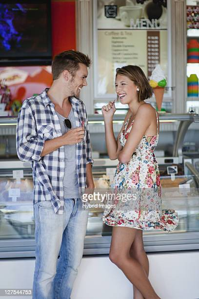 Couple buying ice cream together