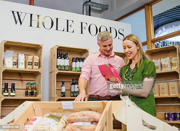 Couple Buying Whole Foods