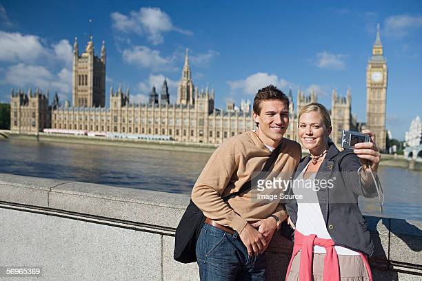 Couple by Houses of Parliament