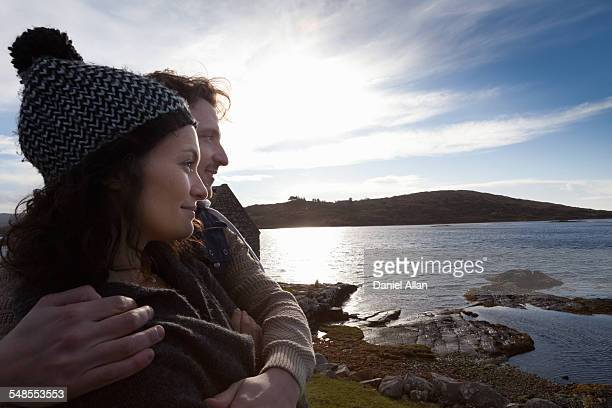 Couple by the coast, Connemara, Ireland