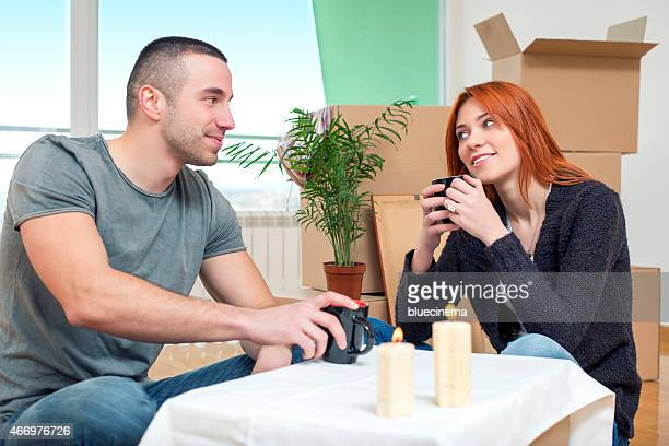 Couple Celebrating a New Home
