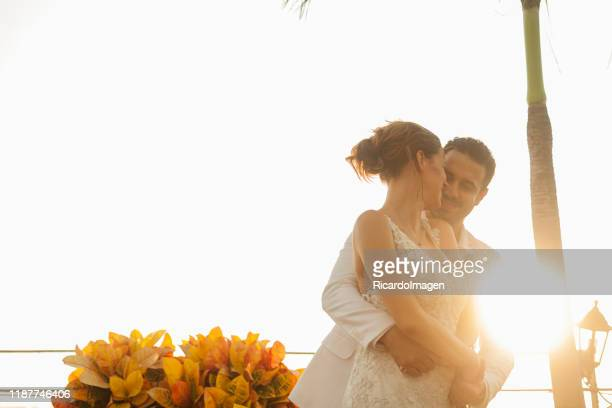 couple celebrating their honeymoon in a caribbean city - beautiful wife pics stock pictures, royalty-free photos & images